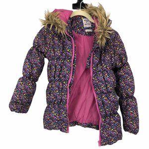 Wrap Up Warm purple Floral girls puffer jacket